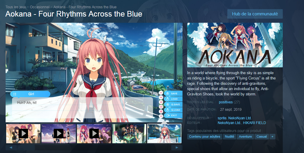 Aokana Steam