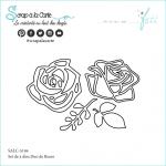 set dies duo de roses