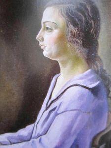 Portrait de ma soeur 1925 détail