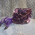 Bracelet chinese purple stone haute-couture