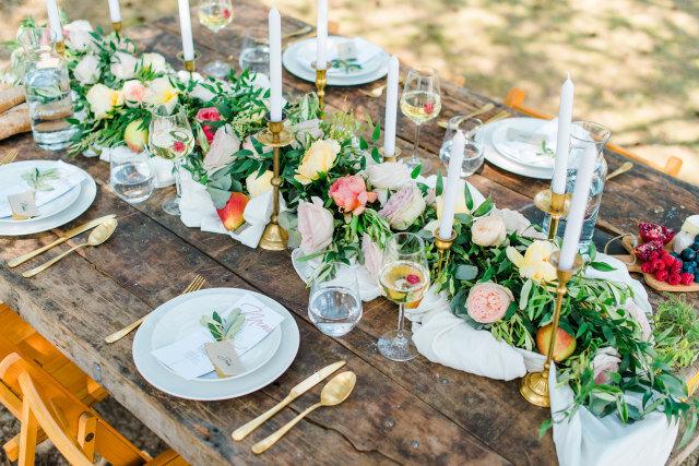 décoration de table mariage estival