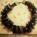 bracelet frou-frou noir