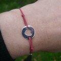 Bracelet Pastille Coeur Mum