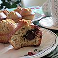 Muffins noix de coco / coeur choco (sans gluten et sans lactose)