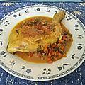 Sauté de cuisses de poulet et légumes au vin de málaga