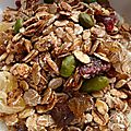 Muesli et granola maison weight watchers