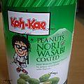 Cacahuètes au wasabi et nori
