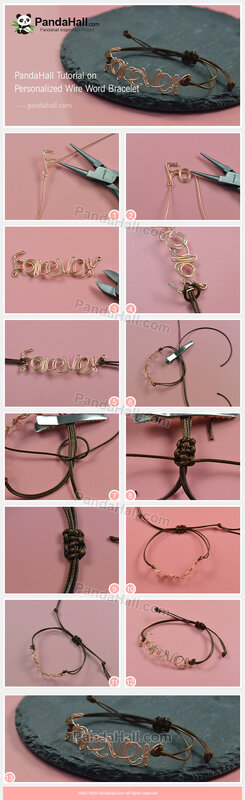 6-PandaHall Tutorial on Personalized Wire Word Bracelet(长)