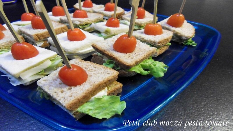 petit club mozza pesto tomate
