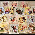 Serie de 8 et 8 cartes postales aux editions de mai