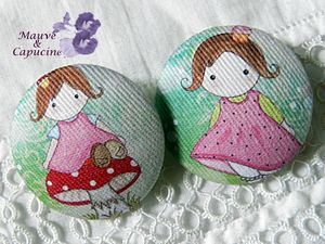 boutons fille