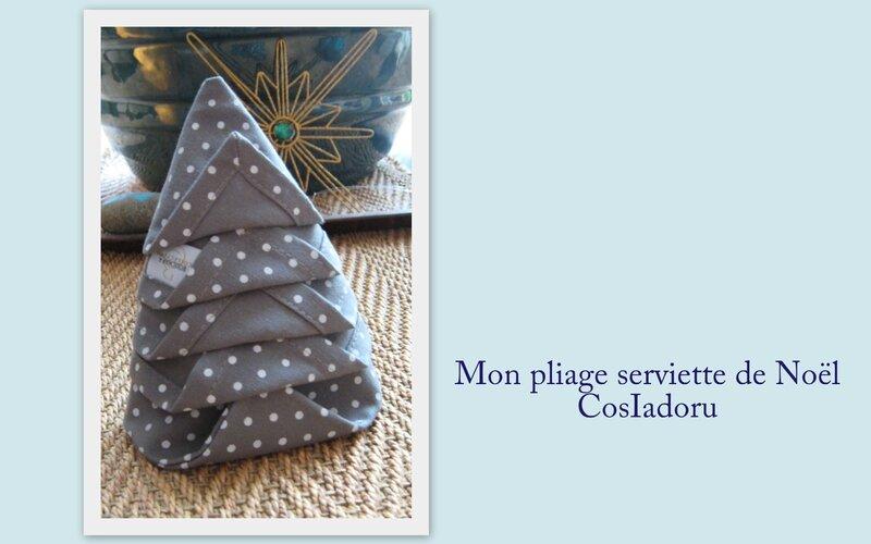 mon pliage serviette de Noë3