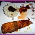 Pavé de saumon caramélisé au soja et au vinaigre à la vanille