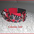 252 - Bracelet rouge-noir