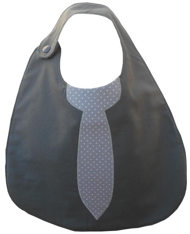 Anthracite cravate grise à pois