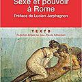 Sexe et pouvoir à rome ❉❉❉ paul veyne