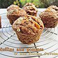 Muffins aux pommes & flocons d'avoine