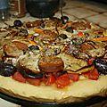 Pizza du jour, pâte à la semoule fine
