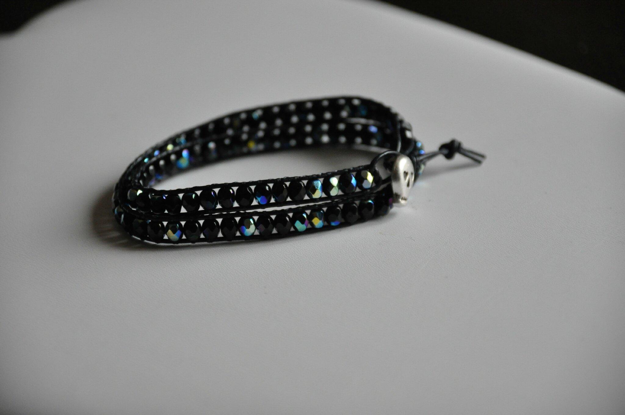 Bracelet wrap style chan luu noir AB2X