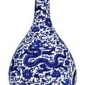 A fine and magnificent large blue and white 'dragon' vase, seal mark and period of qianlong (1736-1795)