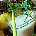 Yaourt verveine-citronnelle au goût citron
