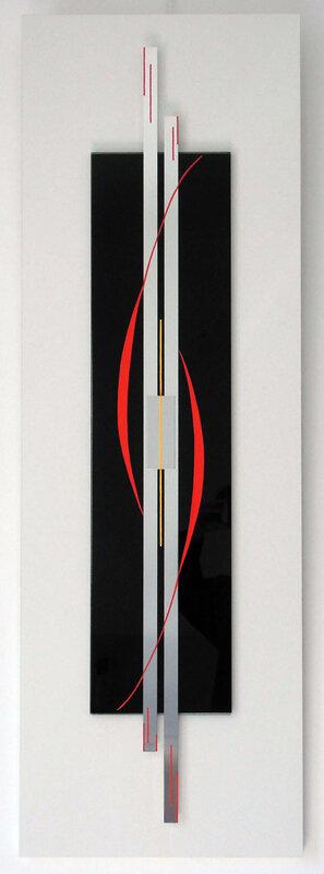 4- ETREINTE (120x40) métal, verre & bois