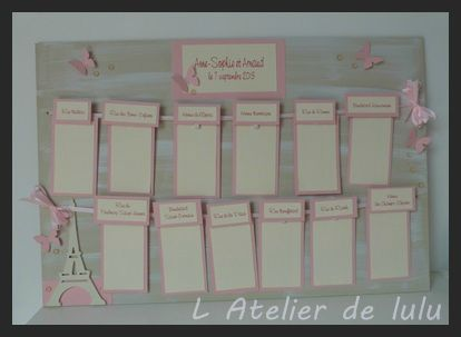 plan de table fait main original