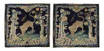 a_very_rare_pair_of_embroidered_gauze_military_officials_rank_badges_o_d5477063h
