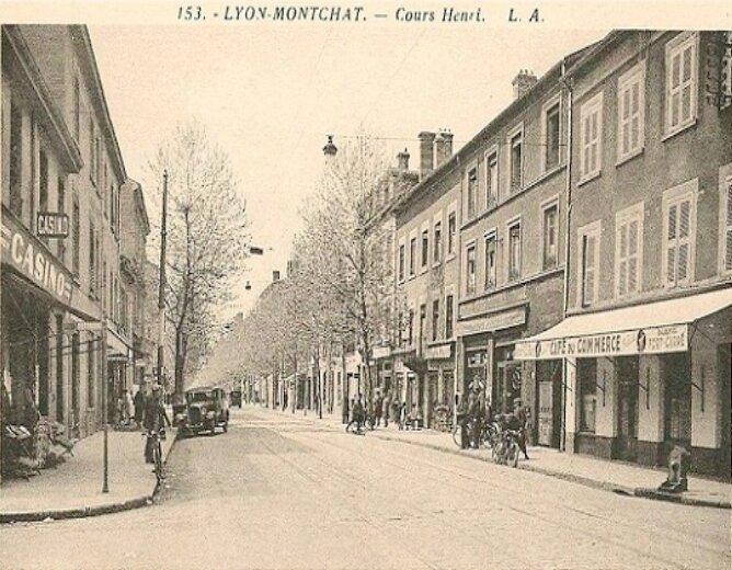 Cours-Henri : Commerces de Montchat à la II°Guerre-Mondiale