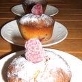 Gâteau aux amandes , citron et framboises