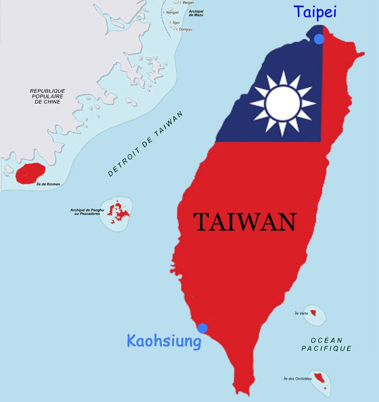 Carte Taïwan CM 1987 Taipei Kaohsiung