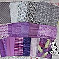 Plaid gris et violet - patchwork