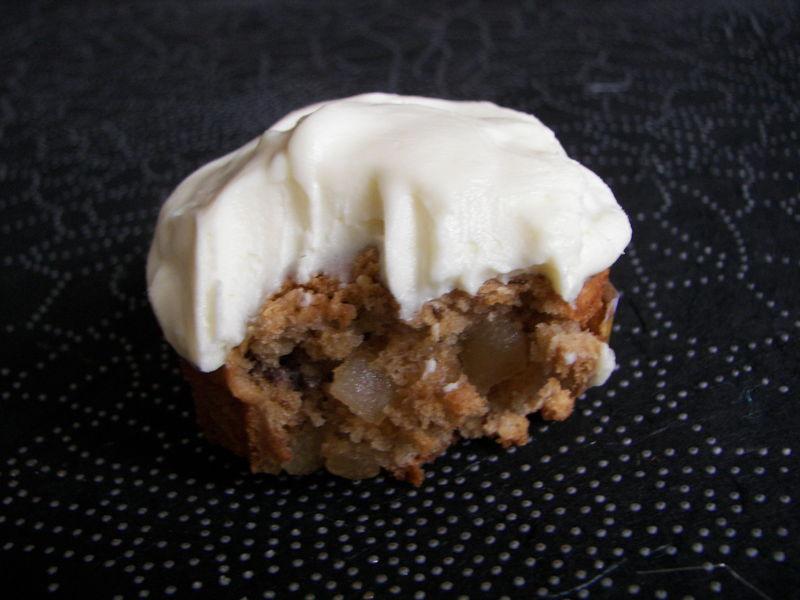 Muffins canneberges/citron et glçage au chocolat blanc