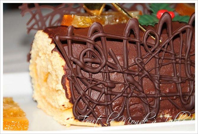 Buche de noel chocolat orange amere