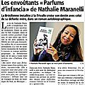 Parfums d'infancia, par nathalie maranelli. interview et article.