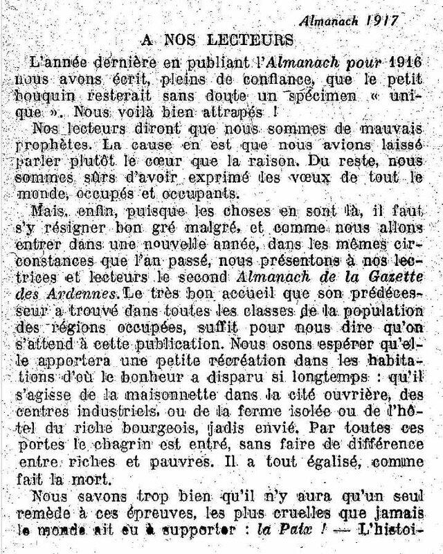 Almanach des ardennes 1917-1