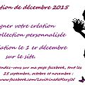 Rectification concernant la collection du 1er décembre