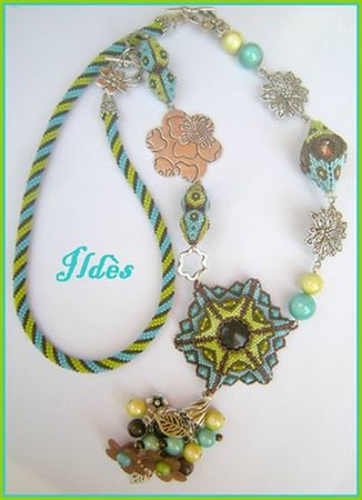 collier anis turquoise choco