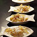 Bouchées de saumon fumé à la crème citronée