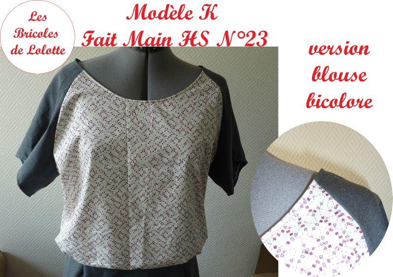 tunique K FMHS23-version blouse bicolore