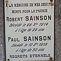 Sainson robert sylvain (francillon) + 28/12/1914 nancy (54)
