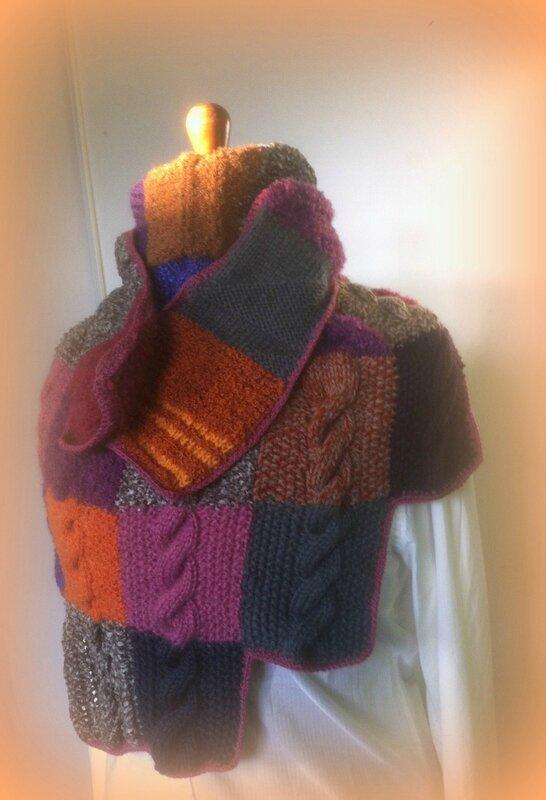 chèche écharpe (en vente dans ma boutique aiguilletine et crochetine - alittlemarket)