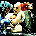 1/4 de finale de boxe amateur a gravelines , jeux d ombres ...