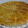 Galette à la crème d'amandes, orange et vanille