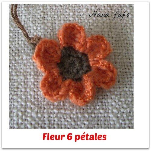 fleur 6pétales-tuto