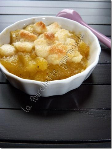 Crumble pommes curry