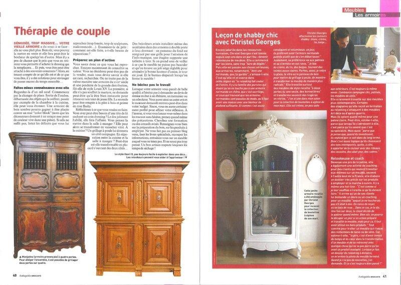 article cottage et patine antiquités brocante janvier 2014 pages 5 et 6
