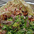 La salade di castelfranco au bœuf à la japonaise