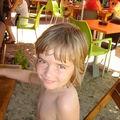 Nathan à la Paillotte Andrea - juillet 2009