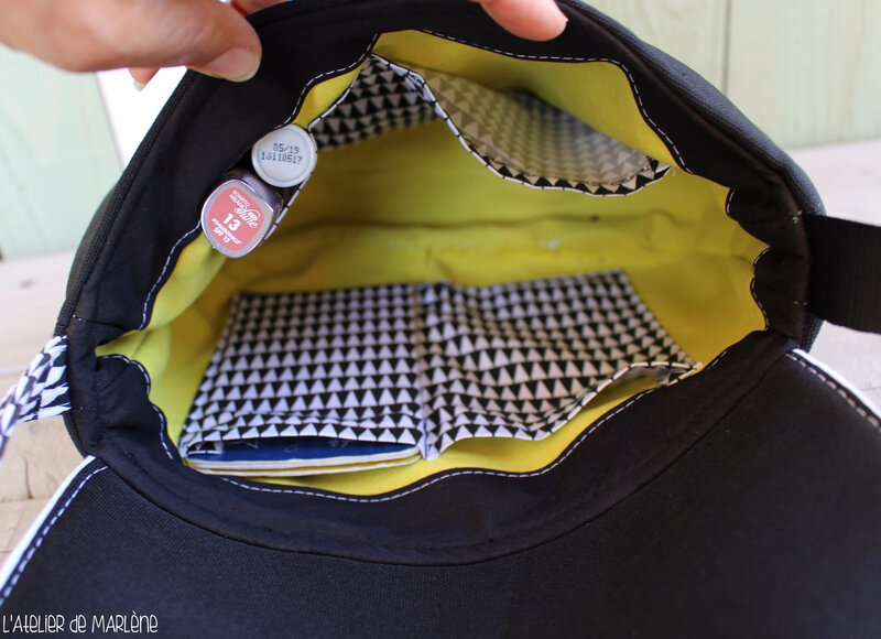 intérieur sac femme été jaune et noir